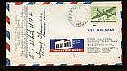 1945  US FFC First Flight Cover Signed by Post Ma