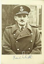 Frank Whittle signed 6x4 photo . Good condition