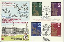 RAF Wattisham official 25th ann Coronation FDC BF