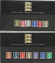 Definitive Stamp Presentation Packs 14 packs all