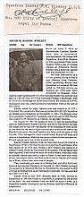 Squadron Leader Arthur Harry Riseley DSO Signatur
