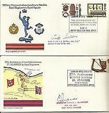 Royal Engineers VIP signed covers 25+ 1970s offic