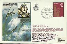 Wg Cdr Robert Stanford-Tuck DSO DFC signed on his