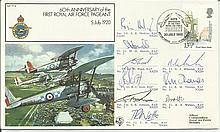 Red Arrows full team signed FF19, 60th ann 1st Ro