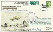 Oscar Fink Zeppelin ace LZ127, 130 signed FF18 co