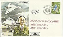 R J Falk OBE signed on his own TP21 flown test pi