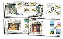 Benham Silk FDC collection of 8 Official FDCS inc