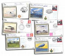 Benham 75th ann. of Flight cover collection. 8 co