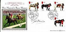 Dick Francis Benham Horses FDC signed by author t