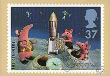 Peter Firmin signed Clangers Post Office PHQ card