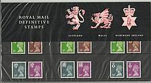 Definitives Regional 18p - 39p Pack 26 presentati