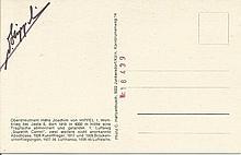 Hans Joachim Von Hippel signed postcard showing h