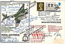 10 Luftwaffe KC Aces: signed RAF Leeming FDC