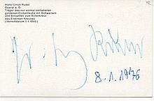 Oberst Hans-Ulrich Rudel Signed His 13.5 X 9 Cm