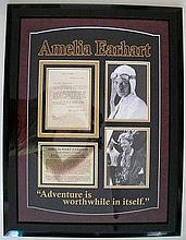 Amelia Earhart signed framed letter Typed letter on Earhart's letterhead date 17th Feb 1932