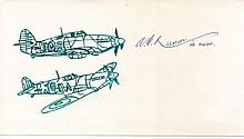 Anthony Russell Rare Battle of Britain autograph. Signature on card