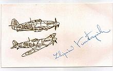 Abigniev Kustrynski Very Rare Battle of Britain Polish Signature.