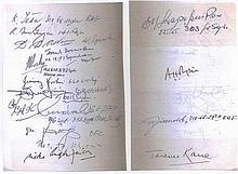 14 Battle of Britain Signature. Two pages from
