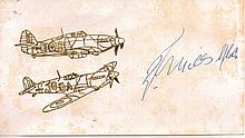 Randolph Stuart Mills Very Rare Battle of Britain Signature 3.