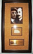 Orville & Wilbur Wright signature piece framed and mounted