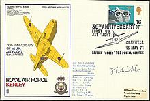 Sir Frank Whittle signed RAF Kenley SC27 Gloster
