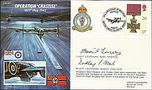 Feneron and Heal Dambuster Raid Veterans. 50th ann Dambuster Raid FDC