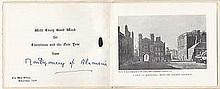 Field Marshall Montgomery of Alamein signed Christmas Card
