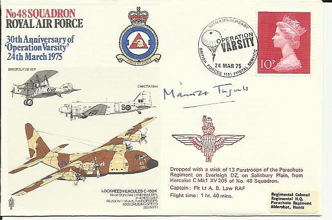 Brig Maurice Tugwell WW2 Para signed 48 Squadron
