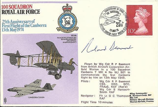 Wg. Cdr. Roland Beaumont DSO DFC WW2 famous ace