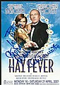 Stephanie Beacham & Christophe Timothy signed Theatre leaflet for Hay Fever, dedicated to  Tom mounted to 12 x 8 black card