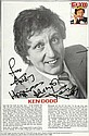 Ken Dodd signed A4 Magazine Article, Photo, dedicated for Andy mounted to 12 x 8 black card