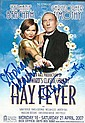Stephanie Beacham & Christophe Timothy signed Theatre leaflet for Hay Fever mounted to 12 x 8 black card