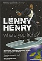 Lenny Henry signed leaflet for his stage show Where are you from. Mounted to 12 x 8 black card