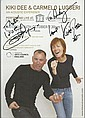 Kiki Dee & Carmelo Luggeri signed colour tour leaflet to Andy. Mounted to 12 x 8 card