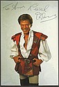 Lionel Blair signed 6 x 4 colour panto pirate costume photo to Andy mounted to 12 x 8 black card
