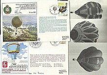 Balloon Flight covers & photos, two signed covers