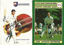 Leicestershire Cricket Year Books, 9 in total, two