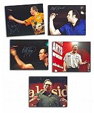 Darts Legends signed 10 x 8 colour photos five
