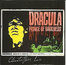Christopher Lee signed Dracula Prince of Darkness