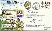 JS/50/41/4c - Battle of Crete WW2 cover Signed