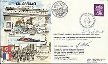 JS/50/40/5c - Fall of France, flown and signed by