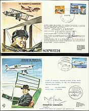 40 Test Pilots series pilot signed covers Blue