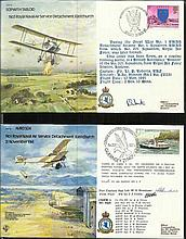 45 Bomber Command series pilot signed covers in