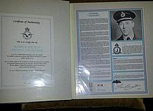RAF Bomber Command Collection Signed Profiles -