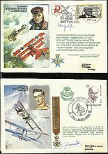50 Historic Aviators series pilot signed covers in
