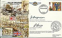 JS/50/42/2c - fall of Singapore Signed Pt.