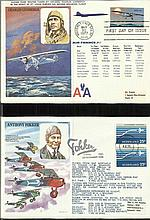 50 Historic Aviators series flown covers in Large