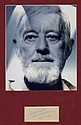Alec Guinness Ink Signed Page. Star Wars Matted