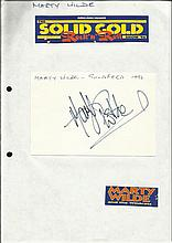 Marty Wilde signed 6 x 4 size white card lightly