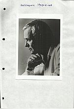 Anthony Hopkins signed 6 x 4 b/w portrait photo,